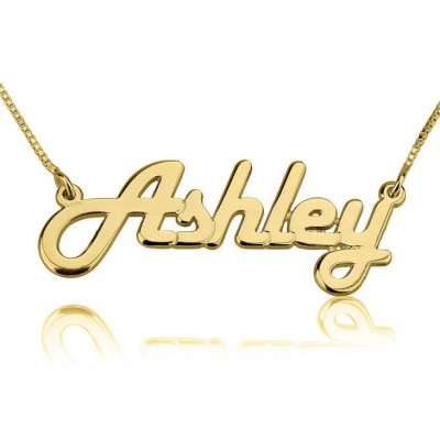 24k Gold Plated Personalized Ashley Necklace