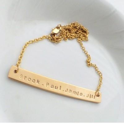 """2"""" Janelle Gold Filled Bar necklace"""