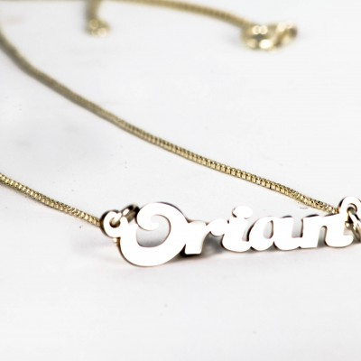 925 sterling silver personalized Name necklace, alphabet Necklaces,