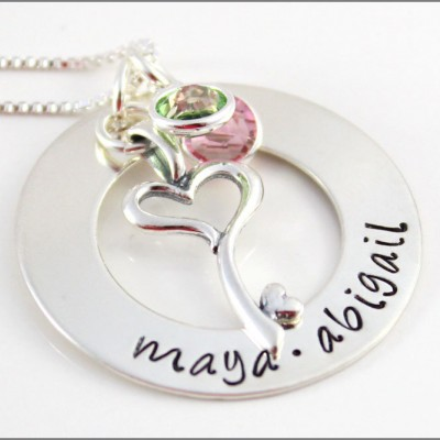 Beautiful Gifts for Wife | Personalized Mom Necklace, Christmas Gifts for Her, Silver Name Necklace, The Perfect Gift for Her