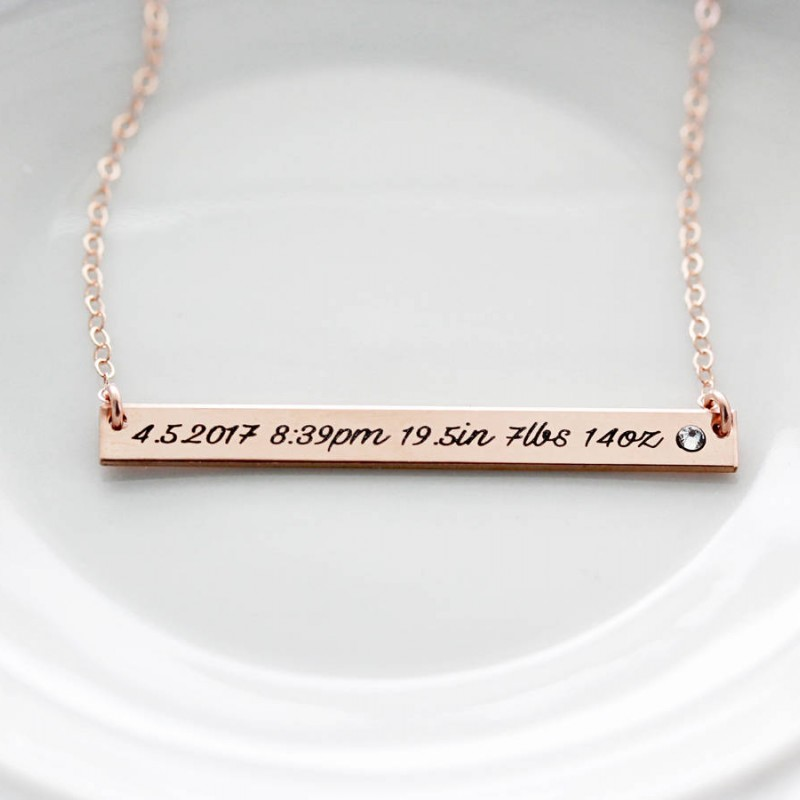 Personalized Necklace Initial Necklace Turquoise Necklace Gold New Mom Gift NK-15 December Birthstone Necklace Bridal Shower Gift