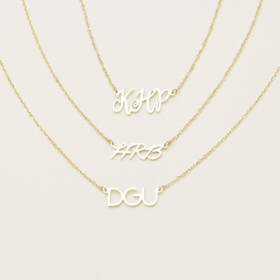Custom Initial Necklace - Personalized Initial Necklace  - Minimal Initial Jewelry - Custom Letters Necklace #PN02I