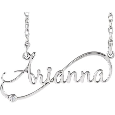 Diamond Infinity-Inspired Script Name Necklace .015 CTW