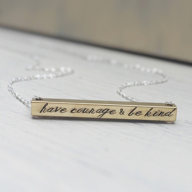 sterling silver custom hand stamped inspirational necklace personalized gifts for women custom necklace motivational jewelry
