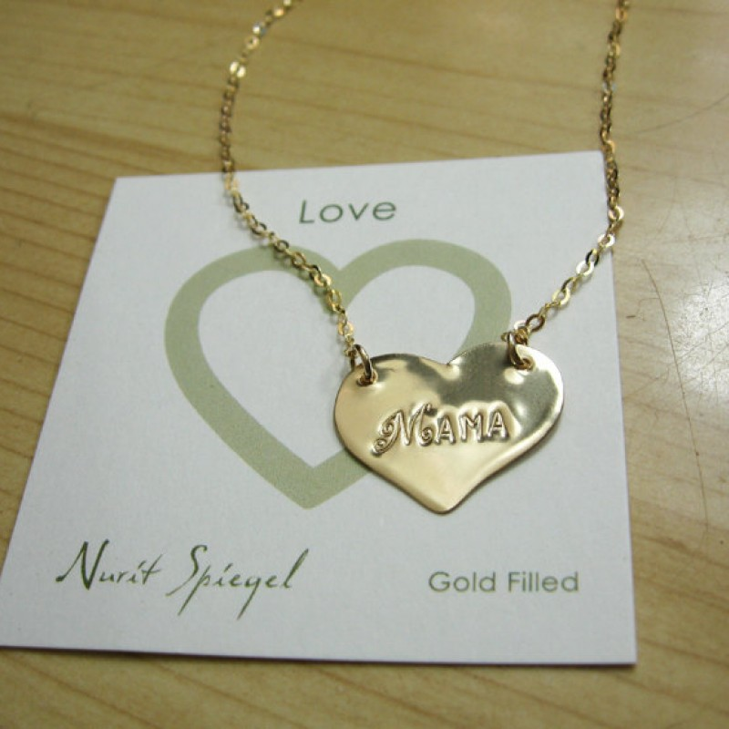 Two Solid Sterling Silver Hearts With Hebrew Names Necklace Bat Mitzvah Valitines Day Gift For Her Mother/'s Day