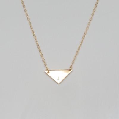 Gold Triangle Necklace - Tiny Triangle - Gold Geo Necklace - Personalized Gold Necklace -Gold ID Necklace - Modern Minimalist Necklace