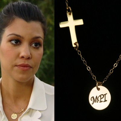 Gold sideways cross necklace,custom initial necklace,3 letter monogram,custom font,inspired,personalized jewelry,Upon to 3 letters,Celebrity