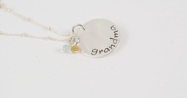 Grandma Necklace Grandmother Necklace Grandma Gift Personalized