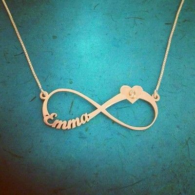 Infinity Necklace with Name Infinity Name Necklace 18k Gold Infinity Nameplate Personalized Infinity Chain Forever Symbol Infinity Style
