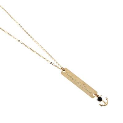 Men's Personalized Necklace - Men's Engraved Necklace - Customized Men Necklace -  Men's Initial Necklace - Men's Personalized Gift