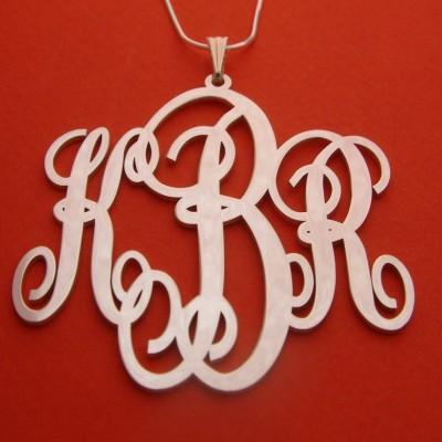 Mongram Necklace Xmas Gifts Monogram Pendant For Christmas Monogrammed Neckalce Xmas Gifts Monogrammed Gift designer monogram necklace