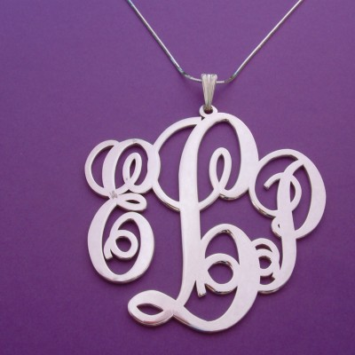 Monogram Necklace Silver Prom Gift Monogram Necklace For Her Monogrammed Necklace Plate Prom Gifts Monogrammed Gift Monogram Necklaces