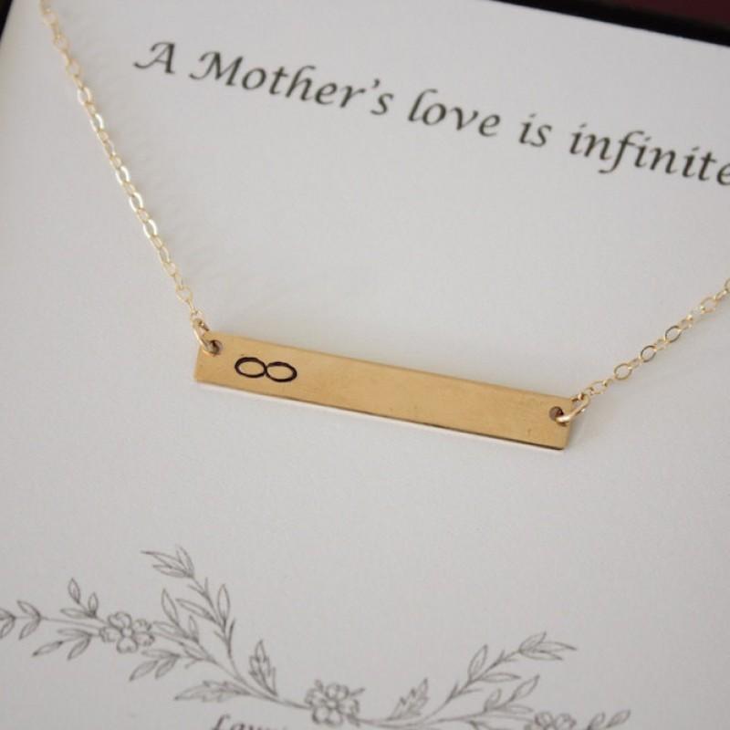 Personalized Thin Rectangle Mother Best Friend Best Friend Monogram Mother Infinity Gold Bar Bracelet Rectangle Bracelet Gold
