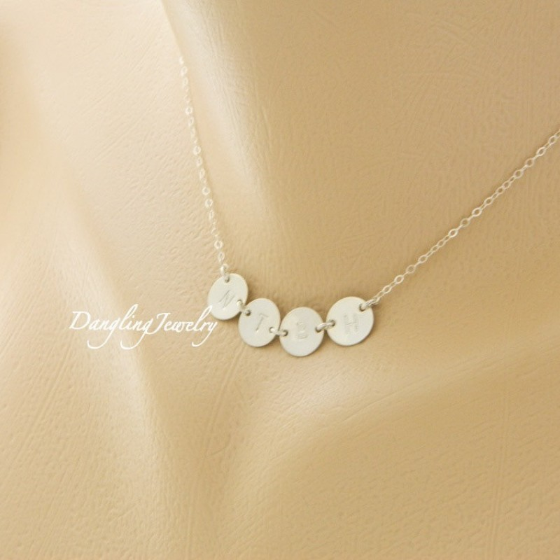 Mother S Day Gift For Grandma Four Initial Necklace