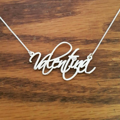 My Name Necklace / ORDER ANY NAME /  Signature Name Necklace / Scriptina Font / Sterling Silver Name Necklace / Free Shipping!