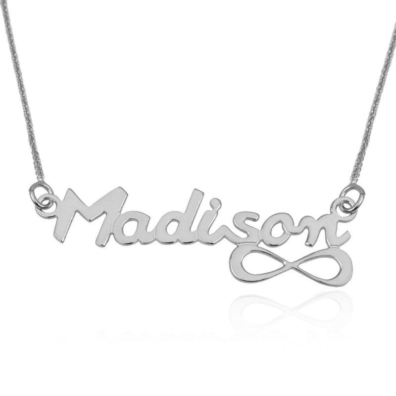 2fee18eb41d53 Name Necklace, Custom Name Pendants Silver, 925 Sterling Silver ...