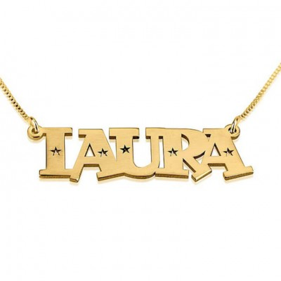 Name Necklace Jewelry Pendant Sterling Silver 925 Stars Name Necklace