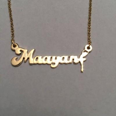 Name Necklace, ballerina Necklace, Ballet dancer Necklace, gift for girls, Ballerina Gift, Ballet Necklace, Ballet Jewelry, Ballet Gift