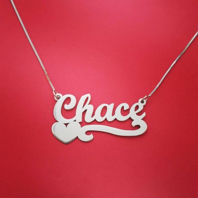 Necklace with name Sterling Silver Name Pendant Chain Name necklace name pendant silver nameplate namenecklace Personalzed Necklace Name
