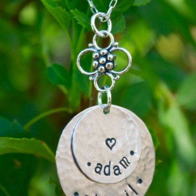 Personalized Mom Necklace - Hand Stamped Mom Necklace - Personalized Mom Jewelry - Grandma Jewelry - Family Jewelry - Christmas Gift for Mom