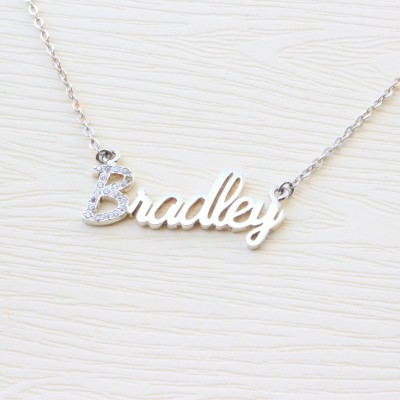 Personalized Name Necklace - Personalized Jewelry - Rose Gold Name Necklace - Custom Name Plate Necklace - Personalized Bridesmaids Gifts