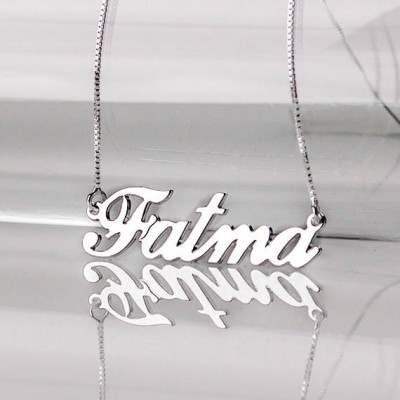 Personalized Turkish name Necklace in Sterling Silver 0.925