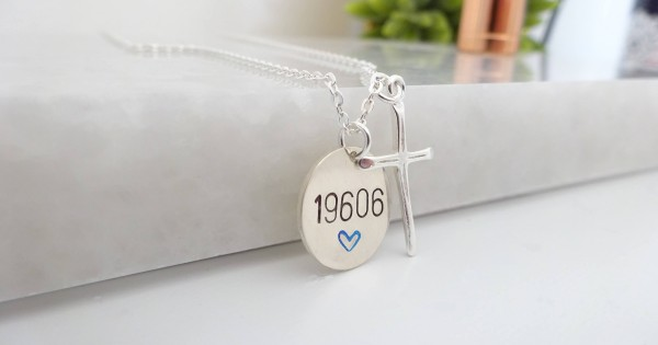 Necklace for Officer/'s Spouse Badge Number Jewelry Police Officer Stamped Jewelry Personalized Boys in Blue Jewelry