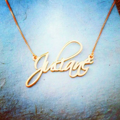 Pretty Little Liars Necklace / ORDER ANY NAME/  Signature name necklace / Scriptina /necklace with my name/ 18k Gold plated name necklace