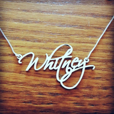 Pretty Little Liars Necklace ORDER ANY NAME Necklace Silver Handwriting Necklace With Signature Necklace Celebrity's Script Whitney Necklace