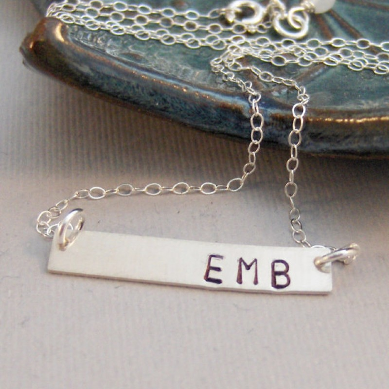 35eb12ca765b8 Signature Silver Bar,Necklace,Set,Layered Set,Bar Necklace,Silver ...