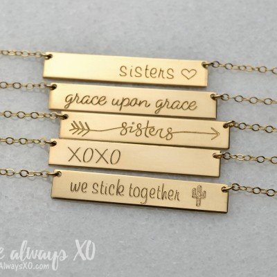 Sister Necklace, necklace for sister, Best Friend Necklace, best friend gift, sister gift, cactus necklace, bridesmaid gift LA104