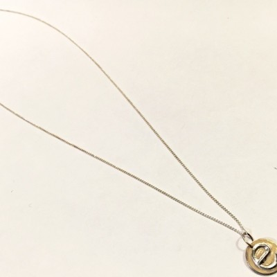 Small initial pendant necklace