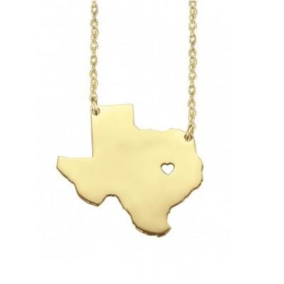 State necklace - california necklace - choose your state necklace - texas, new york, arizona, florida, idahoe, north carolina, south carolin