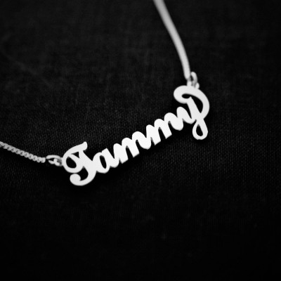 Tammy Style Name Necklace Silver /  Any Name / Christmas Gift / Christmas / Love / Jewelry / Necklaces / Name / Name Jewelry /