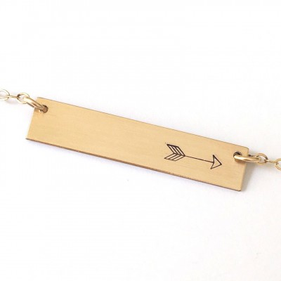 arrow necklace, gift for her, gold necklace, sterling silver necklace