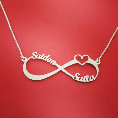 infinity heart necklace infinity necklace with heart christmas gifts for mom girl christmas presents christmas eve present christmas present