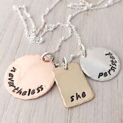 mixed metals necklace, personalized charm necklace, mommy kids names necklace, family jewelry, rose gold, 14k gold filled, sterling silver