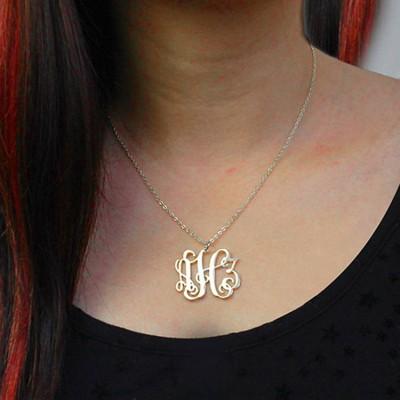 monogram necklace for kids monogram necklace rose gold monogram necklace for boys sterling silver monogram pendant with necklace silver