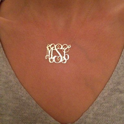 mothers day gift, Monogram Necklace,Personalized Monogram Necklace,Initials Necklace,Custom Necklace,Monogram Pendant,Monogram Jewelry