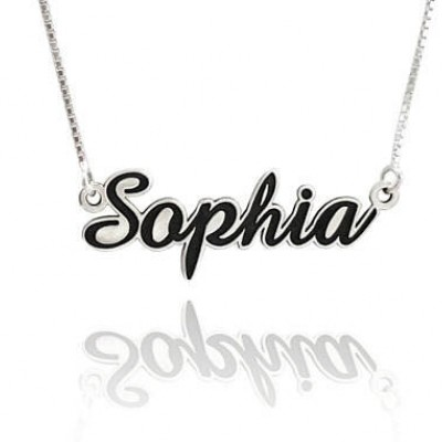 silver name plate necklace, silver name necklaces for girls, necklace name plate, personalized name plate necklace, mother name gift