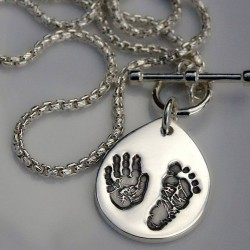 Engraved Handprint
