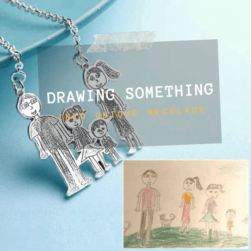 Drawing and handwriting necklace