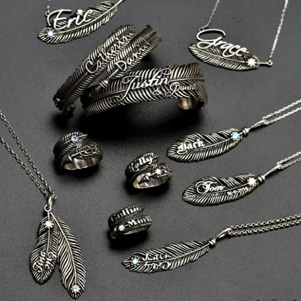 Luxury Feather Series - With Name Jewelry - Name My Jewelry ™