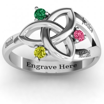 Siobhán Celtic Knot Ring - Name My Jewelry ™