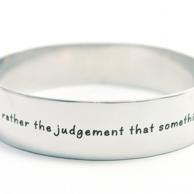 personalized 15mm Wide Endless Bangle - Silver - Name My Jewelry ™