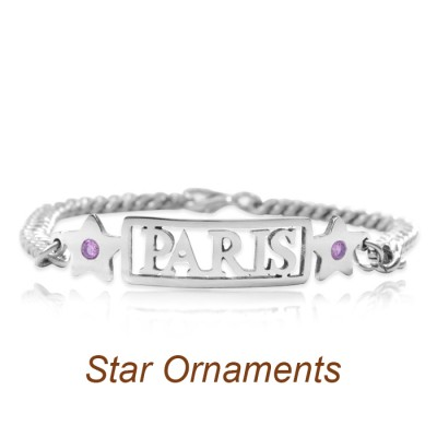 personalized Name Bracelet/Anklet - Sterling Silver - Name My Jewelry ™