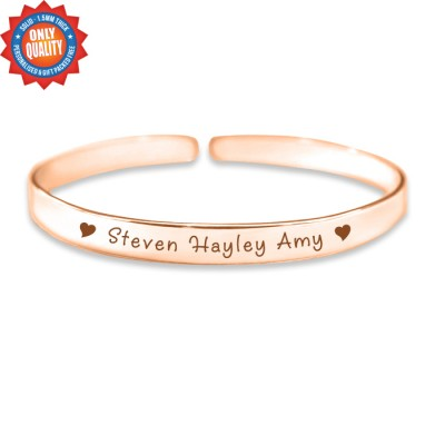 personalized 8mm Endless Bangle - 18ct Rose Gold - Name My Jewelry ™
