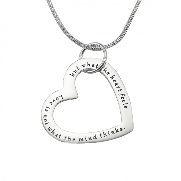 personalized Always in My Heart Necklace - Sterling Silver - Name My Jewelry ™