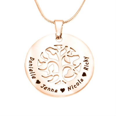 personalized BFS Family Tree Necklace - 18ct Rose Gold Plated - Name My Jewelry ™