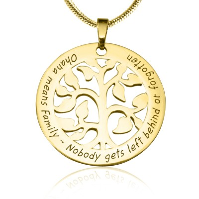 personalized Ohana Tree - 18ct Gold Plated *Limited Edition - Name My Jewelry ™